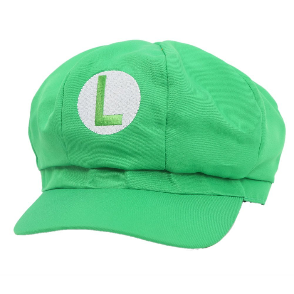 mario bros baseball cap luigi new green gaming