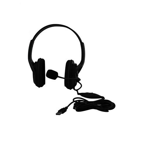 playstation 3 black usb pro gamer headset w microphone. Black Bedroom Furniture Sets. Home Design Ideas