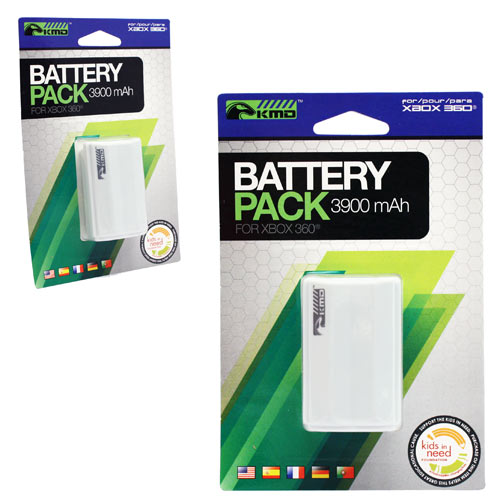microsoft xbox 360 white rechargeable battery pack 3900mah for controller kmd ebay. Black Bedroom Furniture Sets. Home Design Ideas
