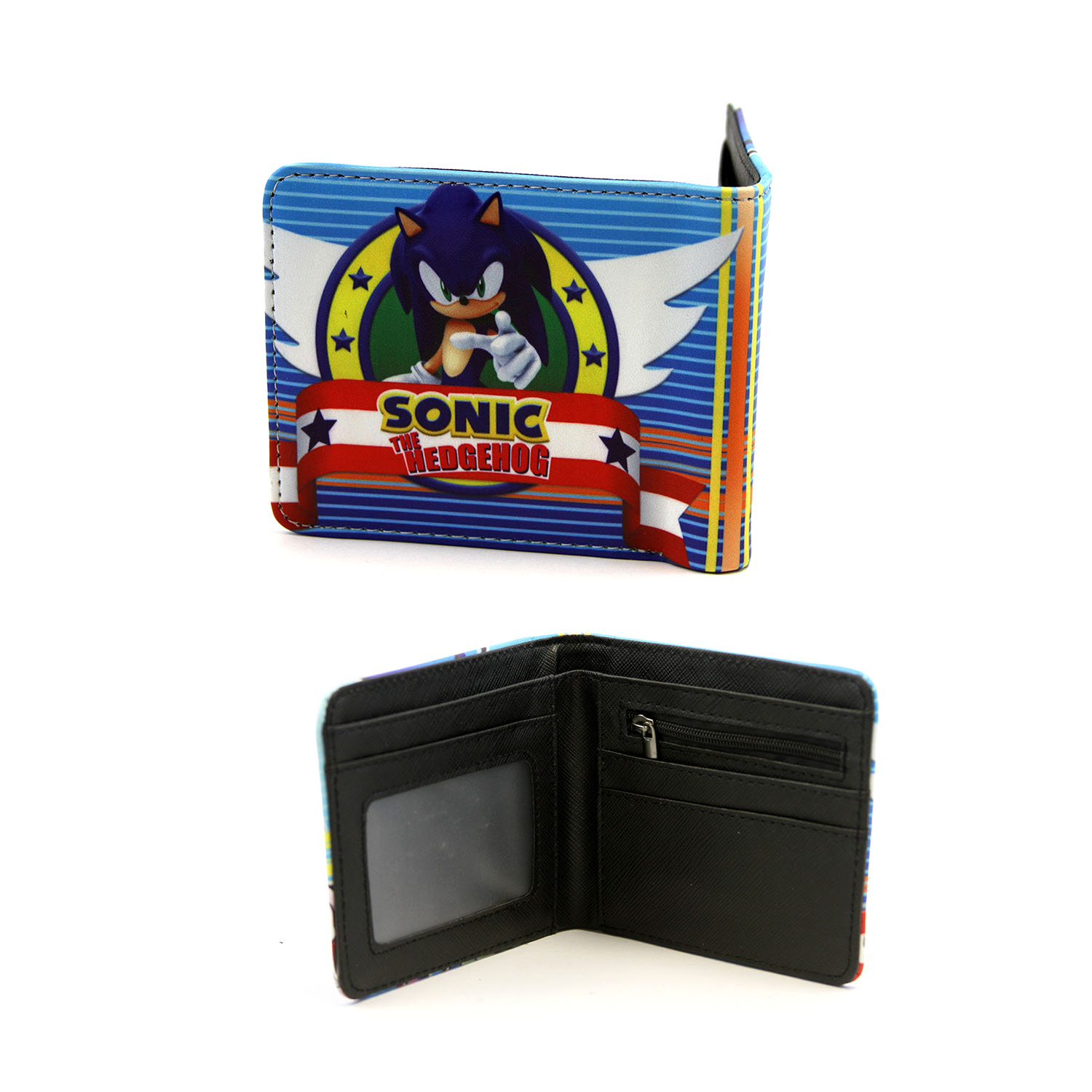 Sonic The Hedgehog 4x5 Bifold Wallet Sonic Classic And Modern 3d New 30656856119 Ebay