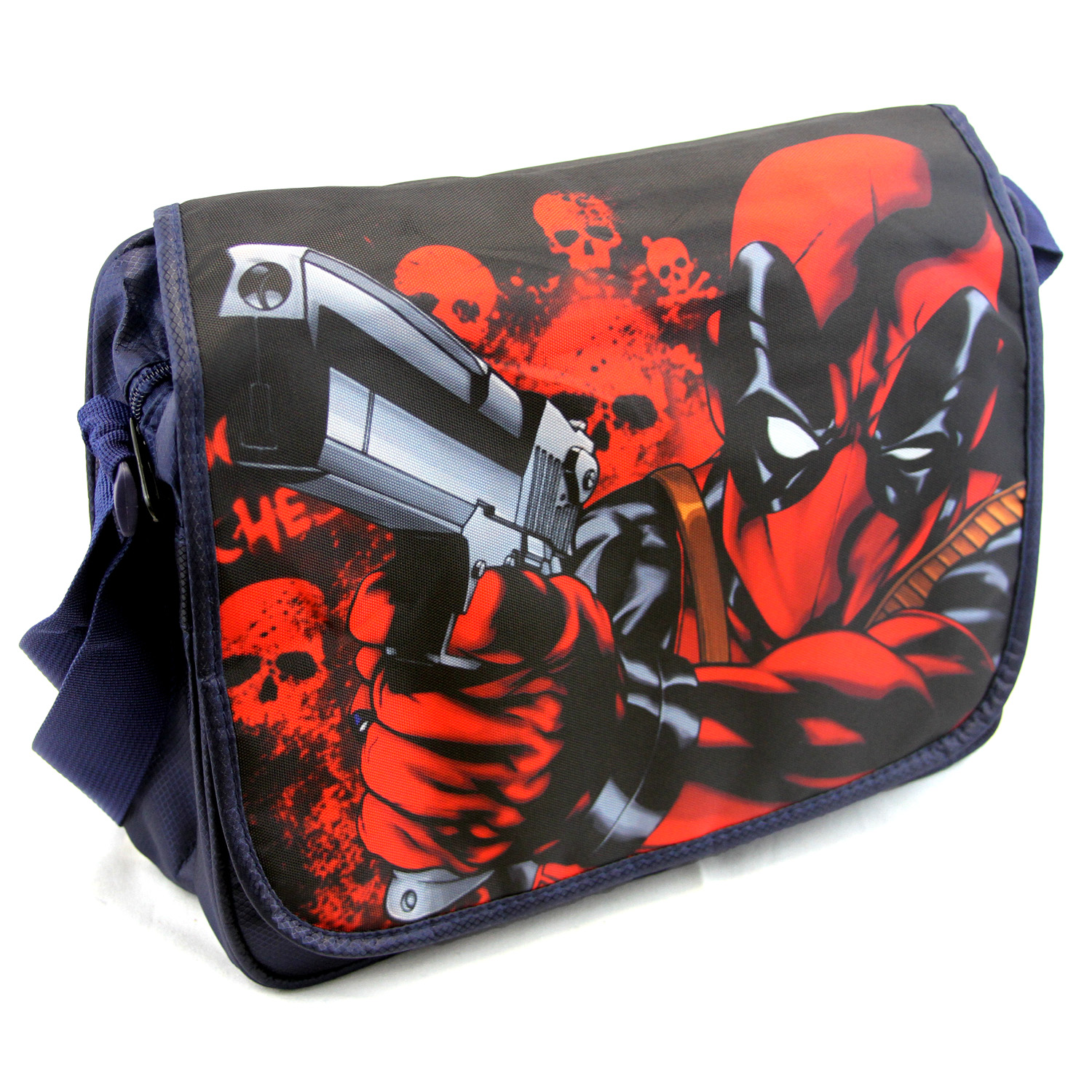 Marvel 14 Messenger Bag Deadpool New Nylon Satchel Shoulder Bookbag