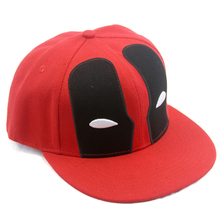 Deadpool Face Mask Baseball Cap - Marvel Universe New (Black Red Snapback  Hat) 1d188a00acab