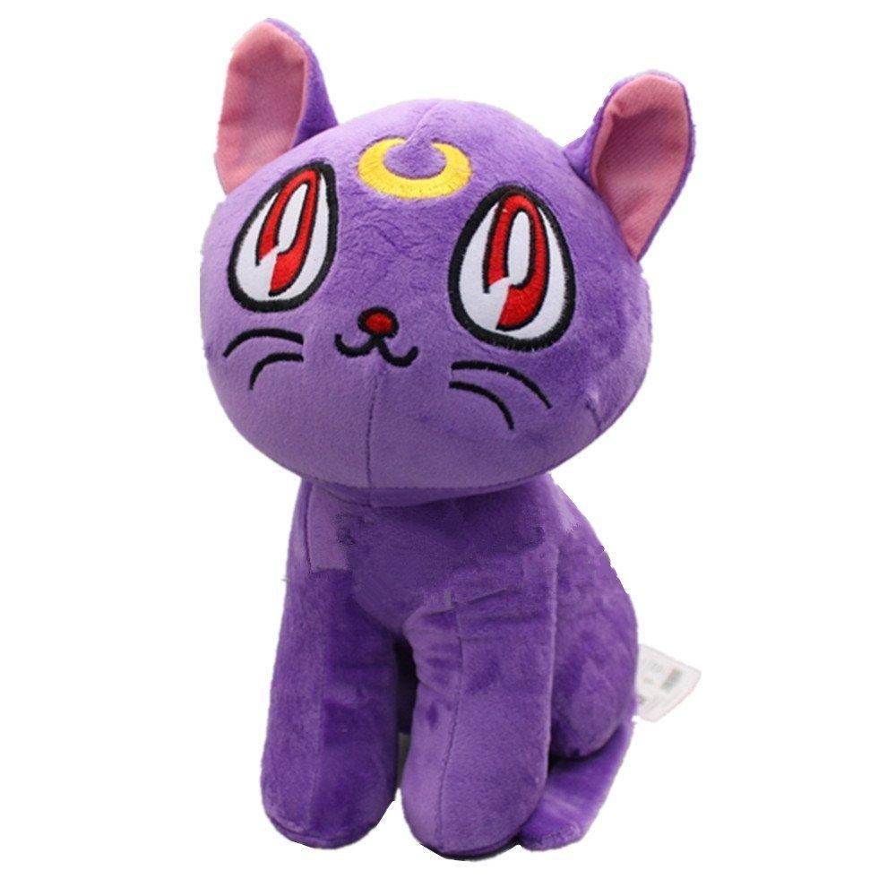 "BLACK LUNA CAT New Runa Sera Mun Sailor Moon 6/"" Plush Soft Stuffed Plushie"