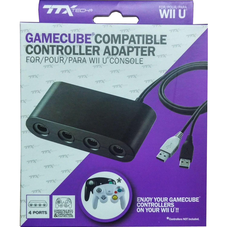 Nintendo Wii U 4 Port GameCube Controller Adapter TTX Tech New (USB ...