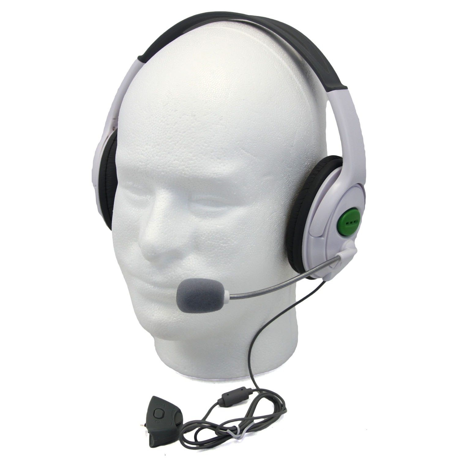 Xbox 360 - WHITE Live Chat Headset w/ Microphone Hexir (Wired ...